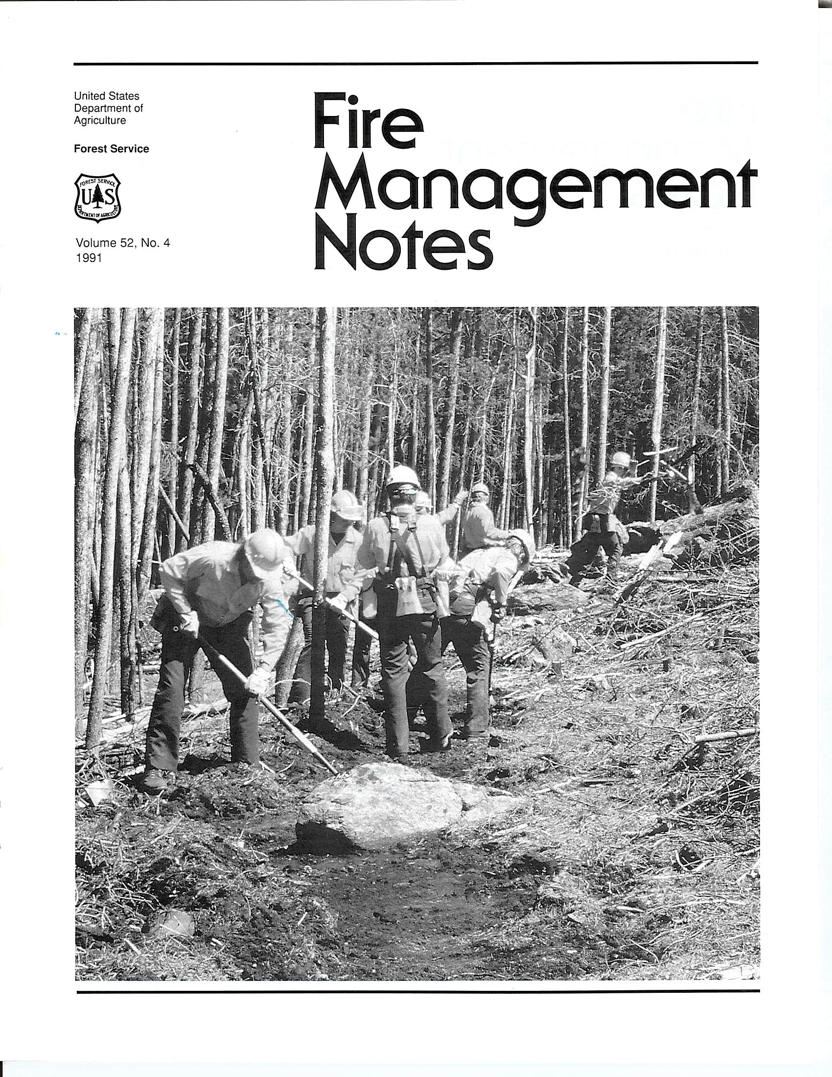 Cover of Fire Management Today Volume 52, Issue 04