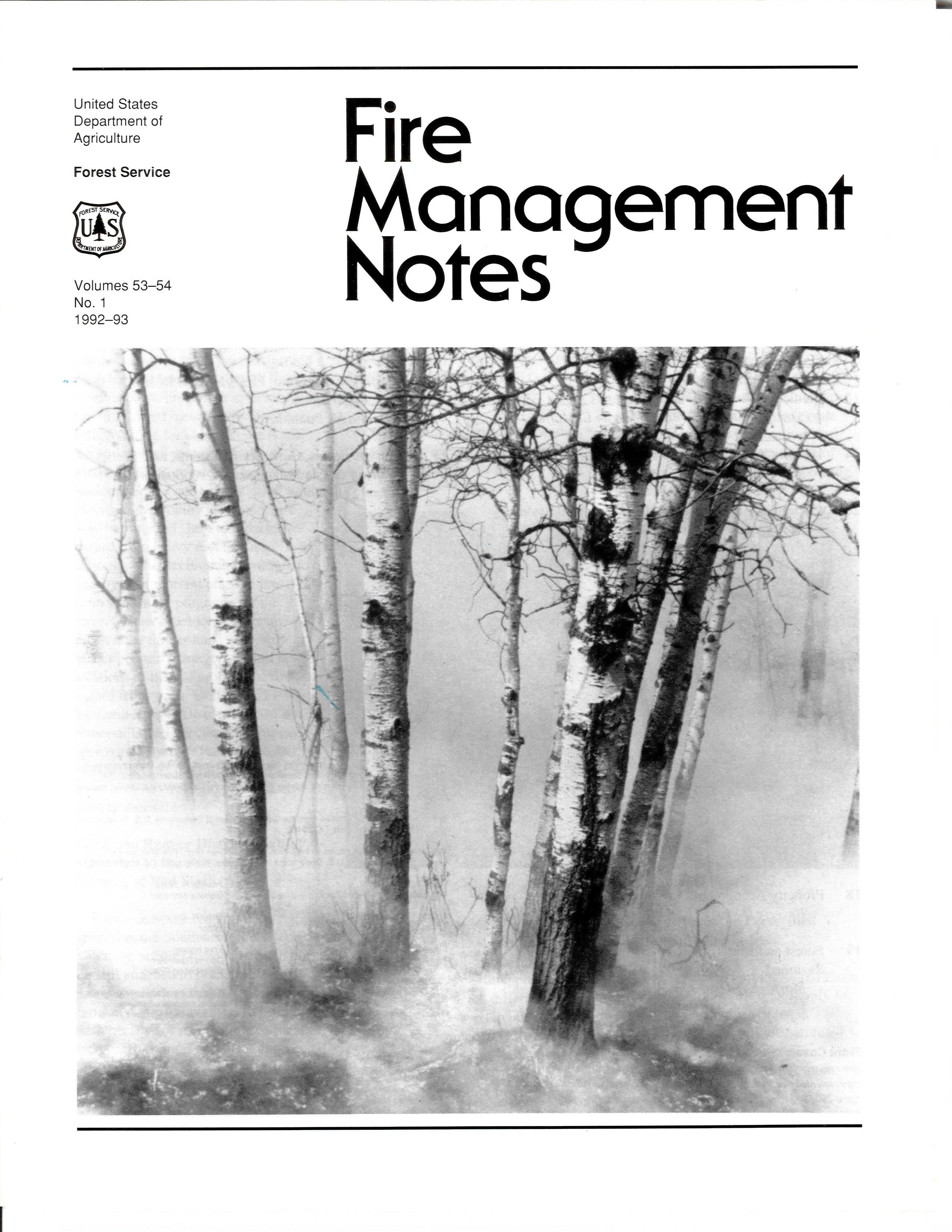 Cover of Fire Management Today Volume 53-54, Issue 01