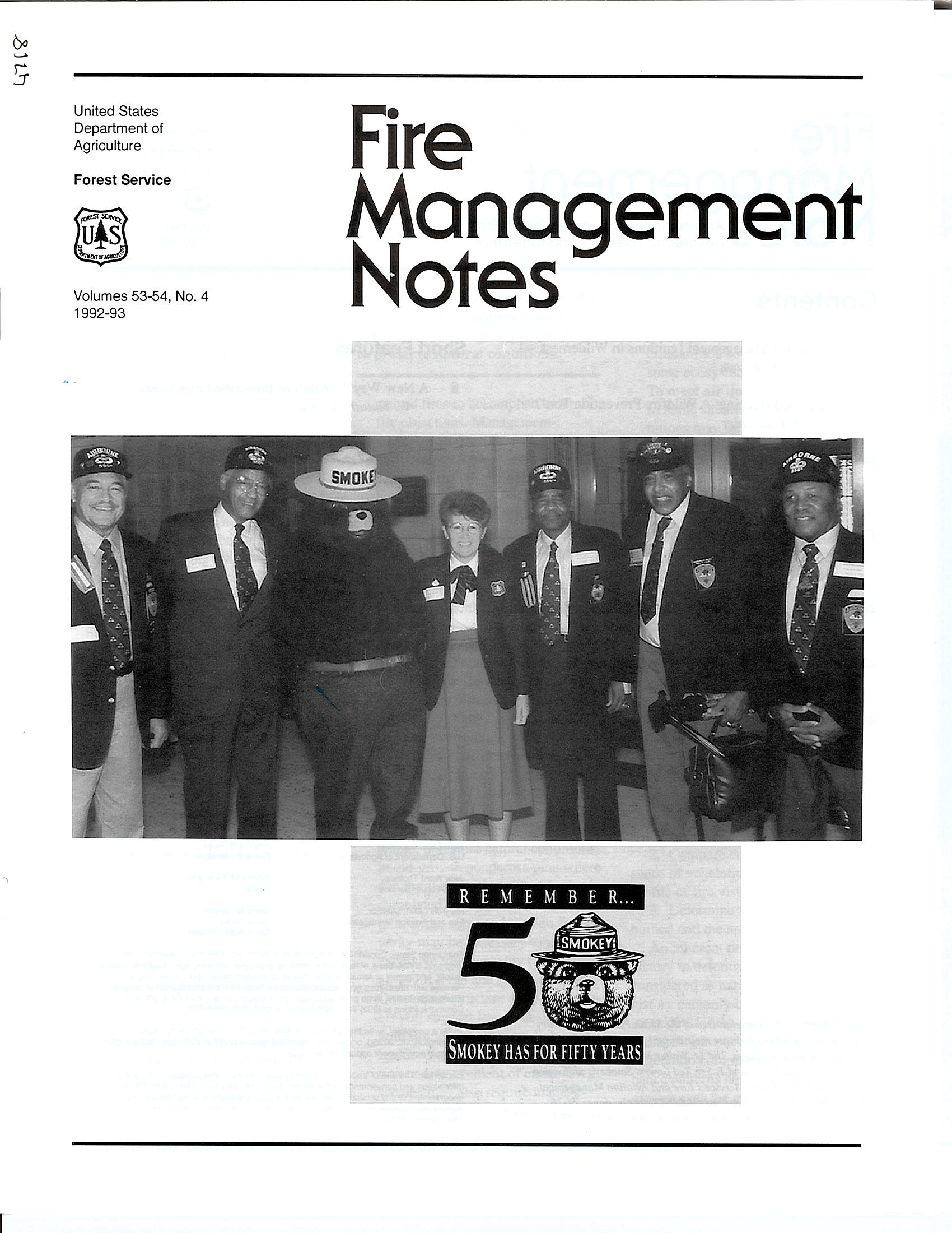 Cover of Fire Management Today Volume 53-54, Issue 04