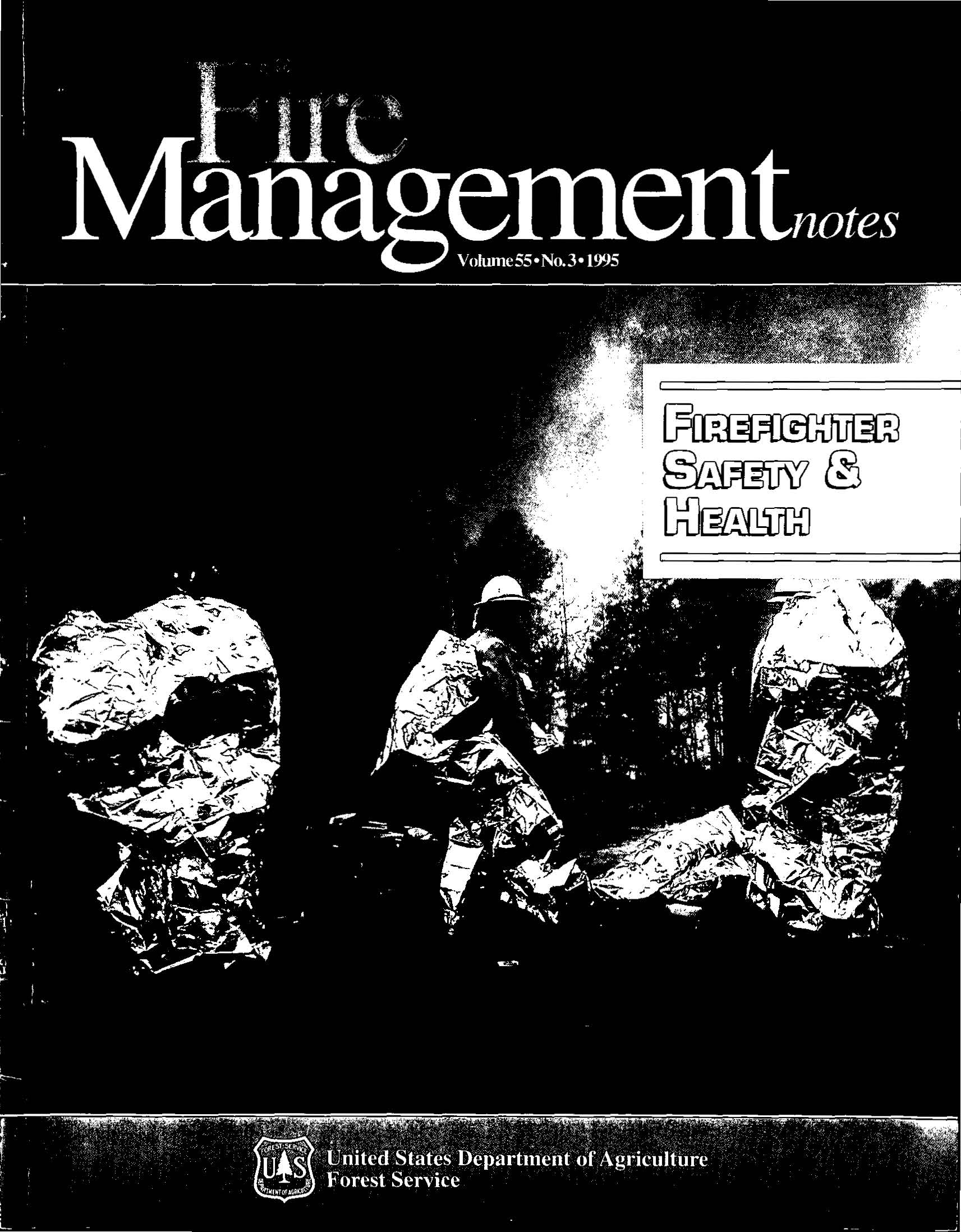 Cover of Fire Management Today Volume 55, Issue 03