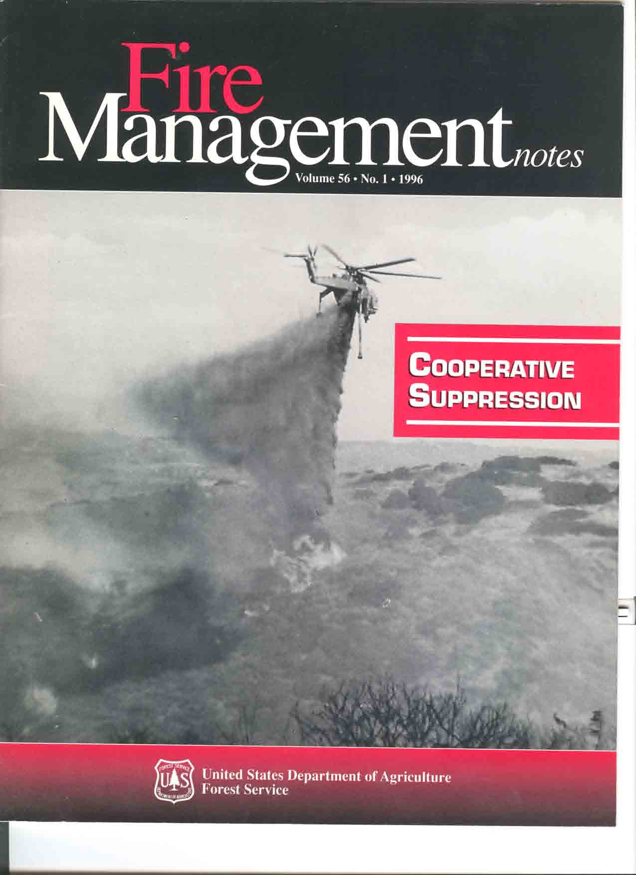 Cover of Fire Management Today Volume 56, Issue 01