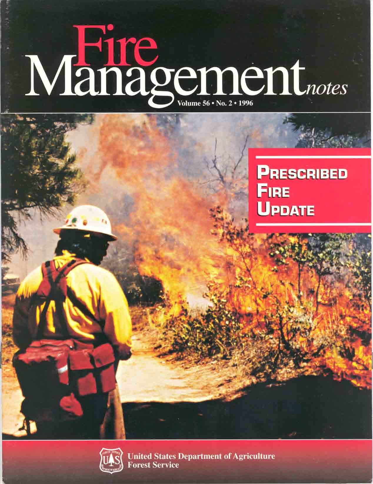 Cover of Fire Management Today Volume 56, Issue 02