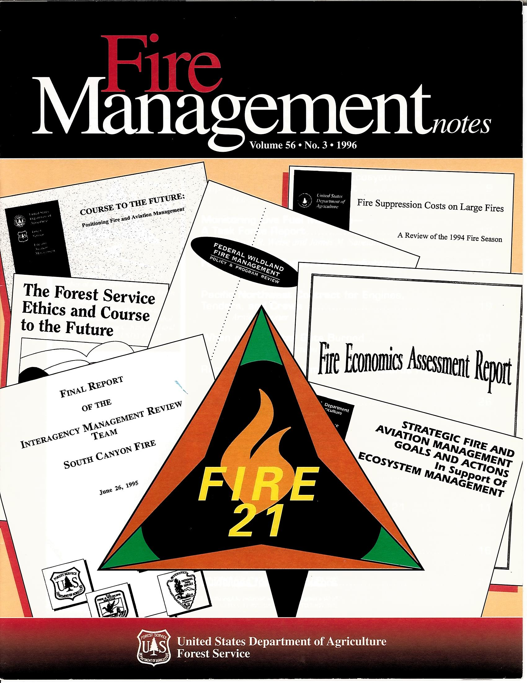 Cover of Fire Management Today Volume 56, Issue 03