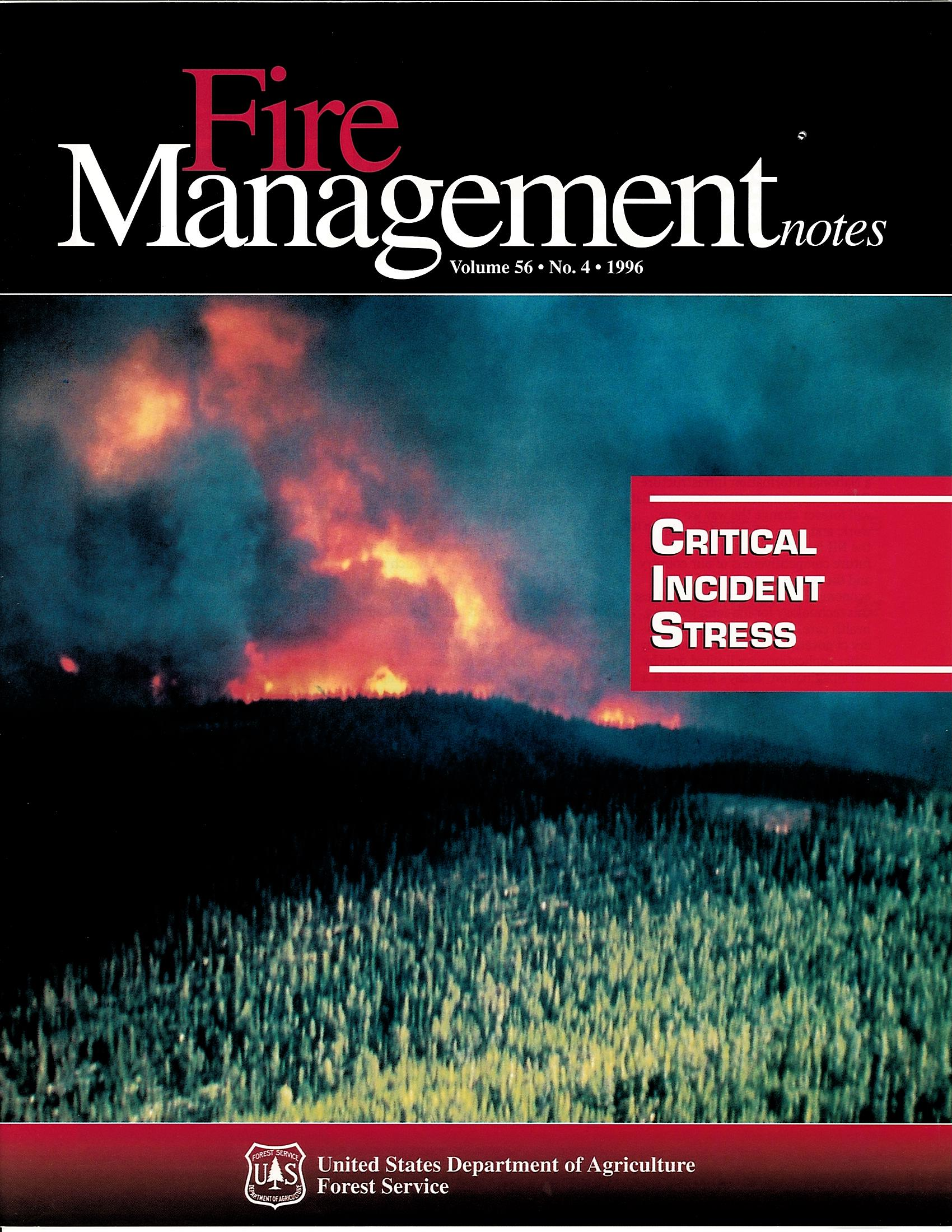 Cover of Fire Management Today Volume 56, Issue 04