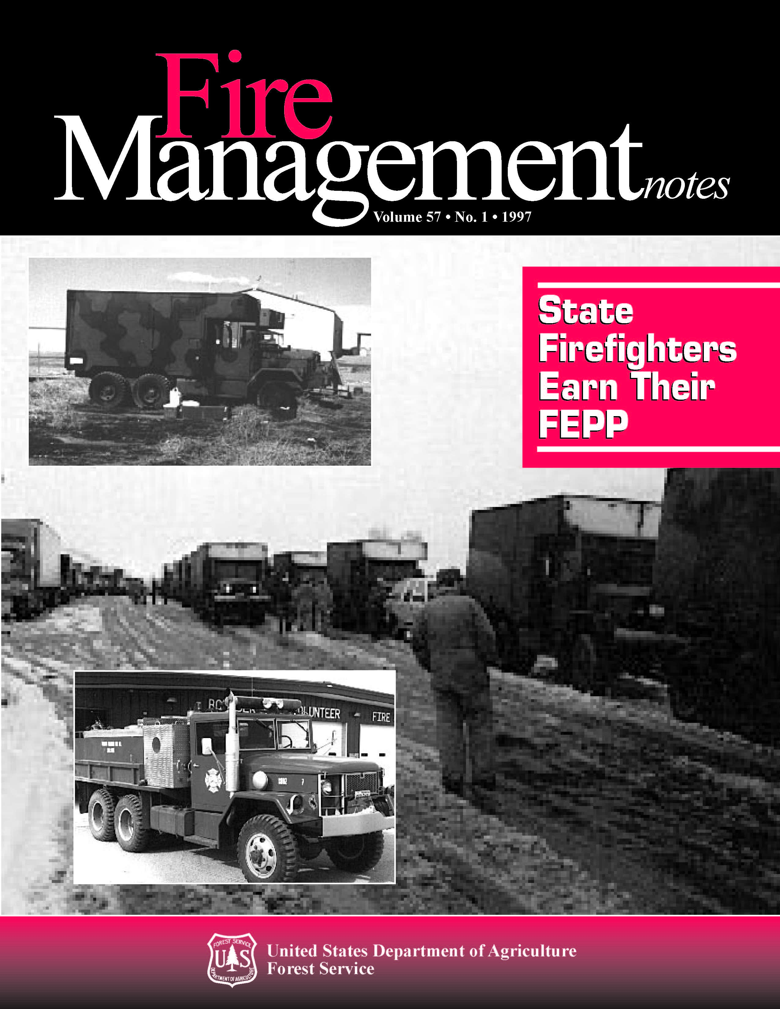 Cover of Fire Management Today Volume 57, Issue 01