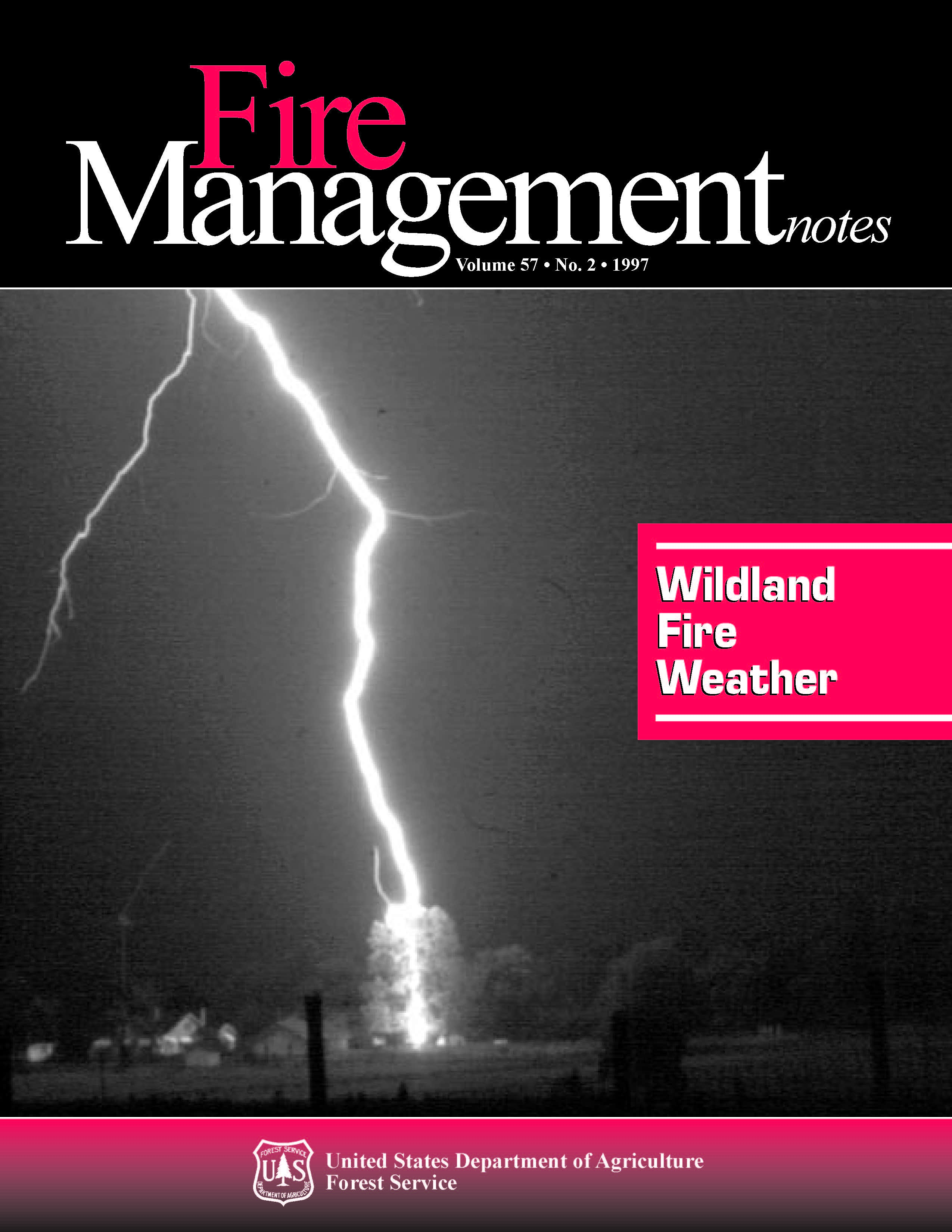 Cover of Fire Management Today Volume 57, Issue 02
