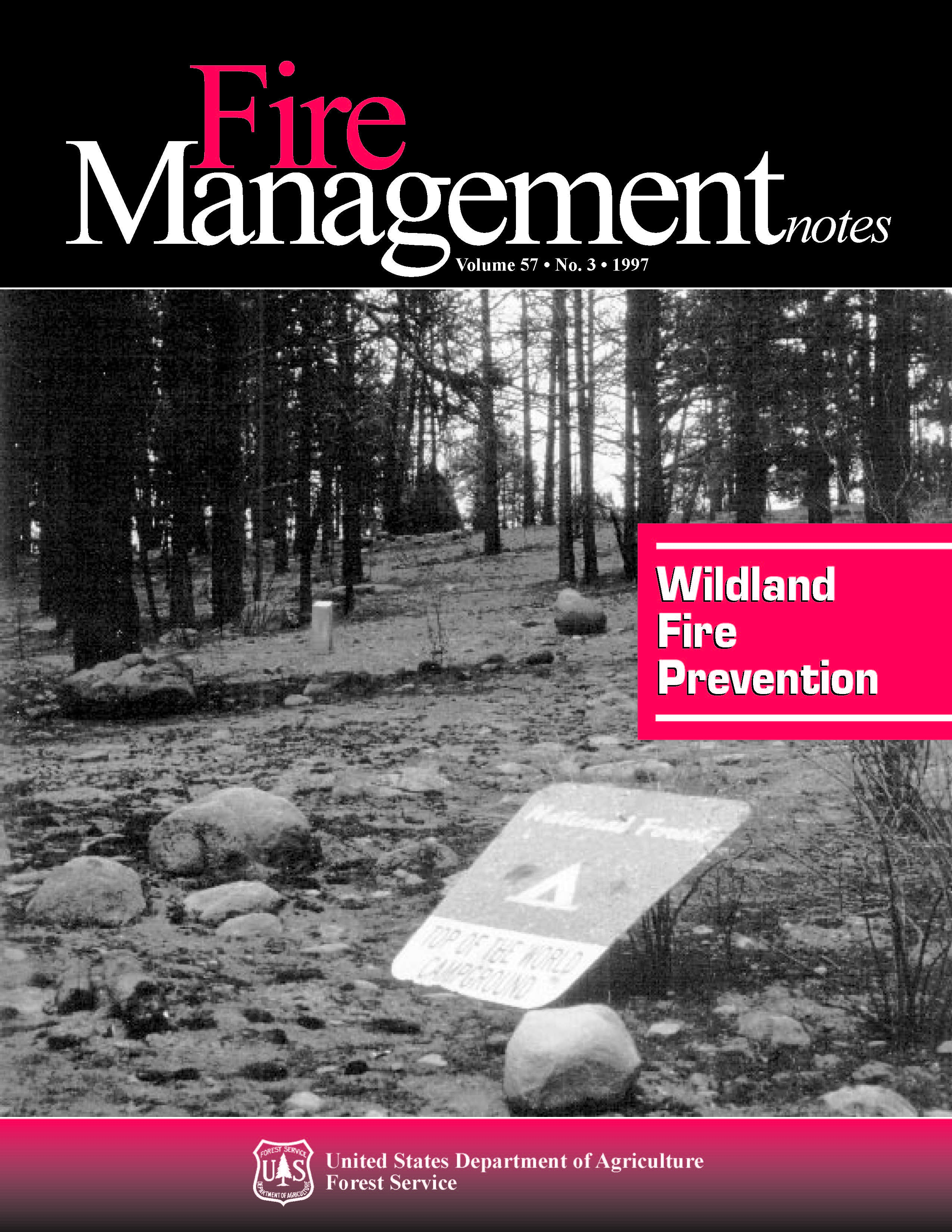Cover of Fire Management Today Volume 57, Issue 03