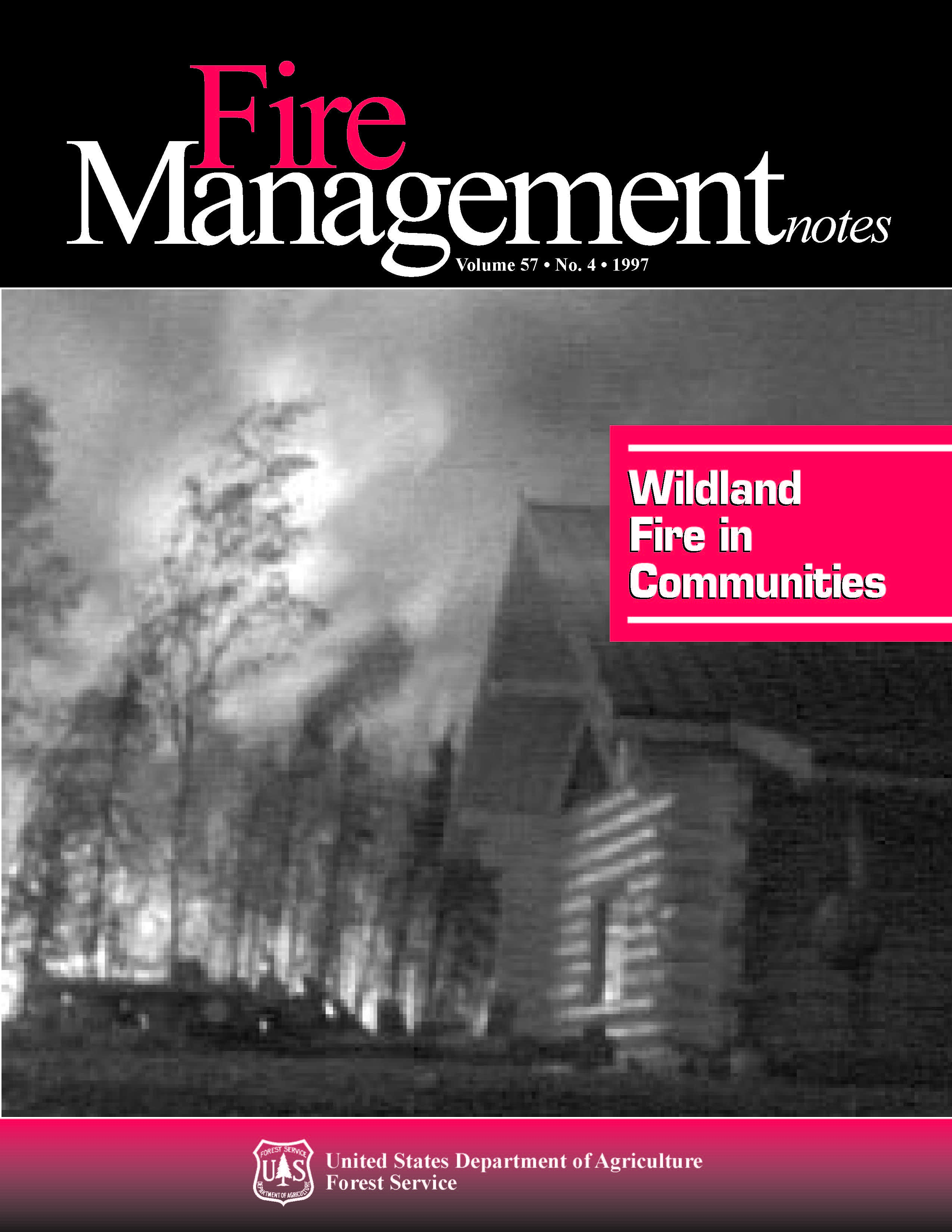 Cover of Fire Management Today Volume 57, Issue 04