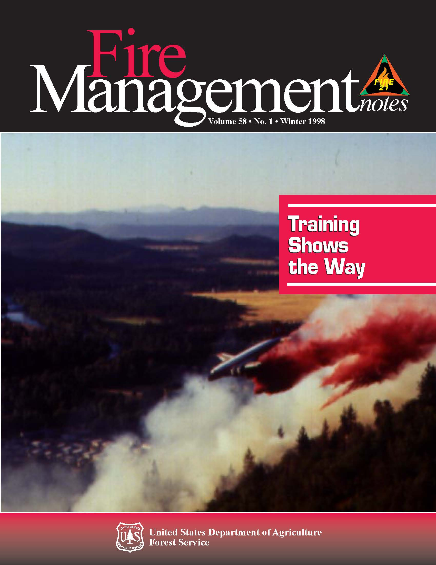 Cover of Fire Management Today Volume 58, Issue 01