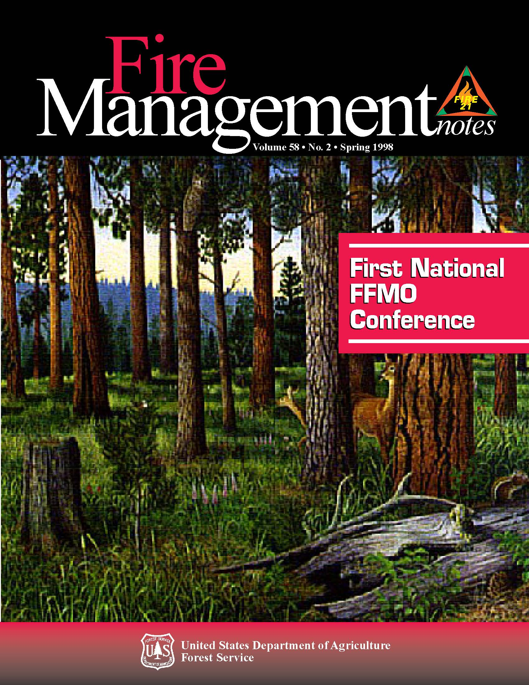 Cover of Fire Management Today Volume 58, Issue 02