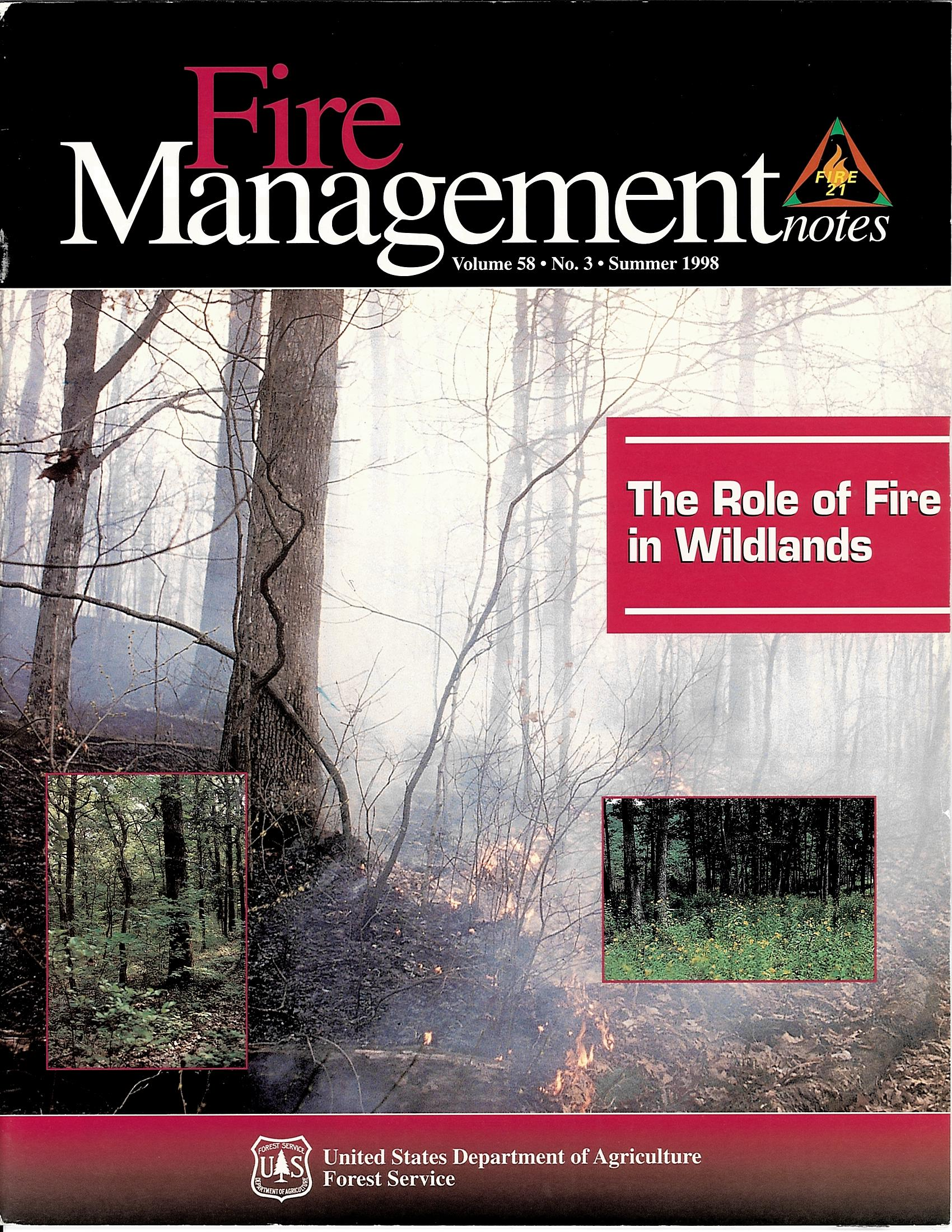 Cover of Fire Management Today Volume 58, Issue 03