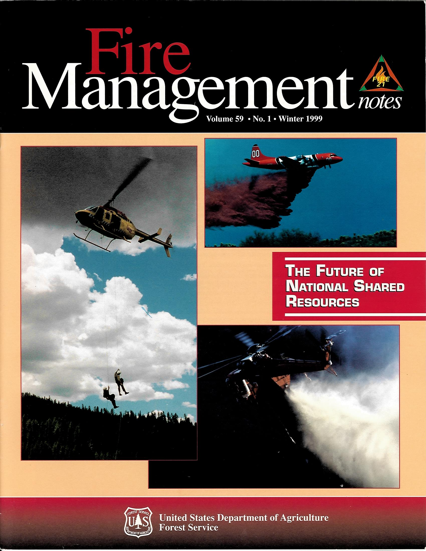 Cover of Fire Management Today Volume 59, Issue 01