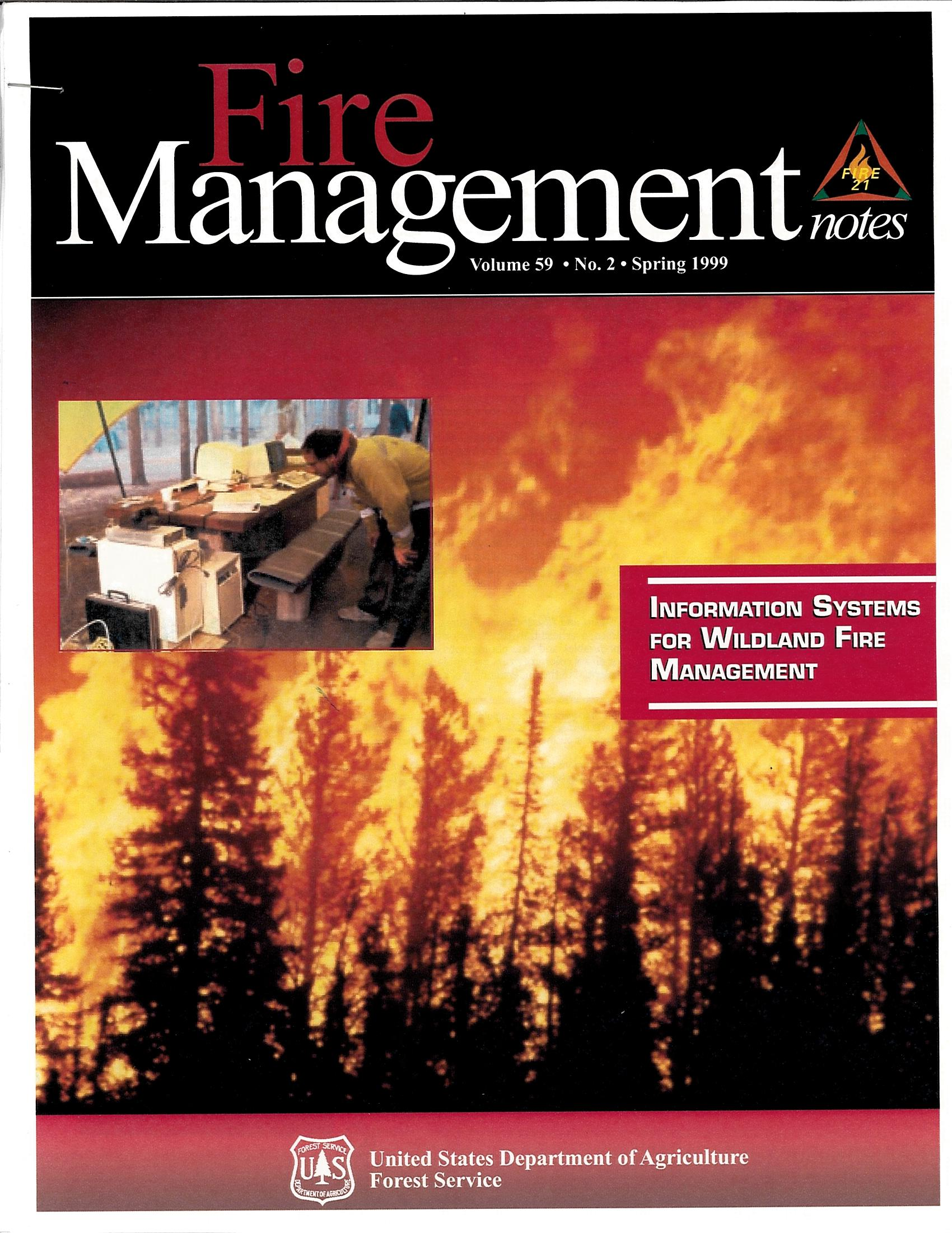 Cover of Fire Management Today Volume 59, Issue 02
