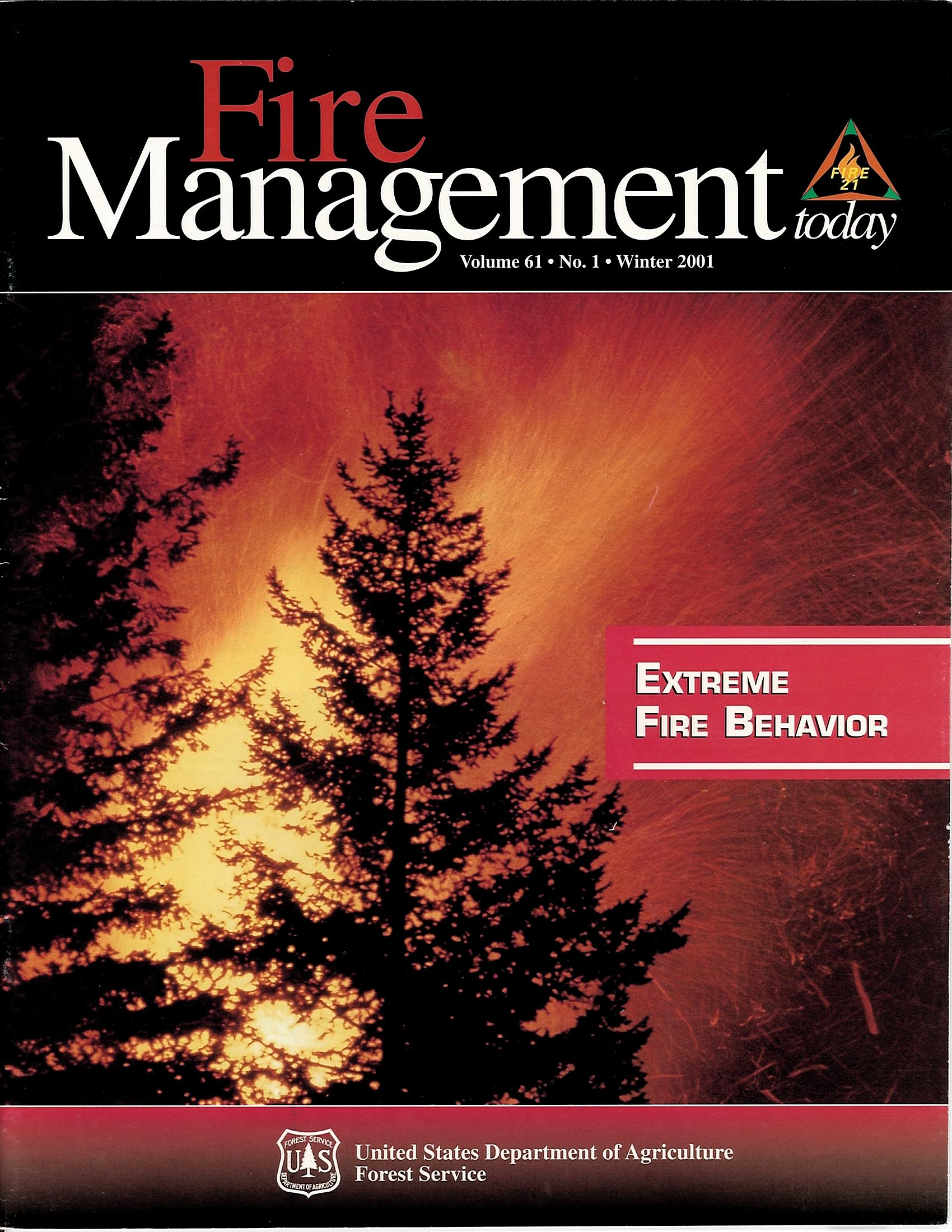 Cover of Fire Management Today Volume 61, Issue 01