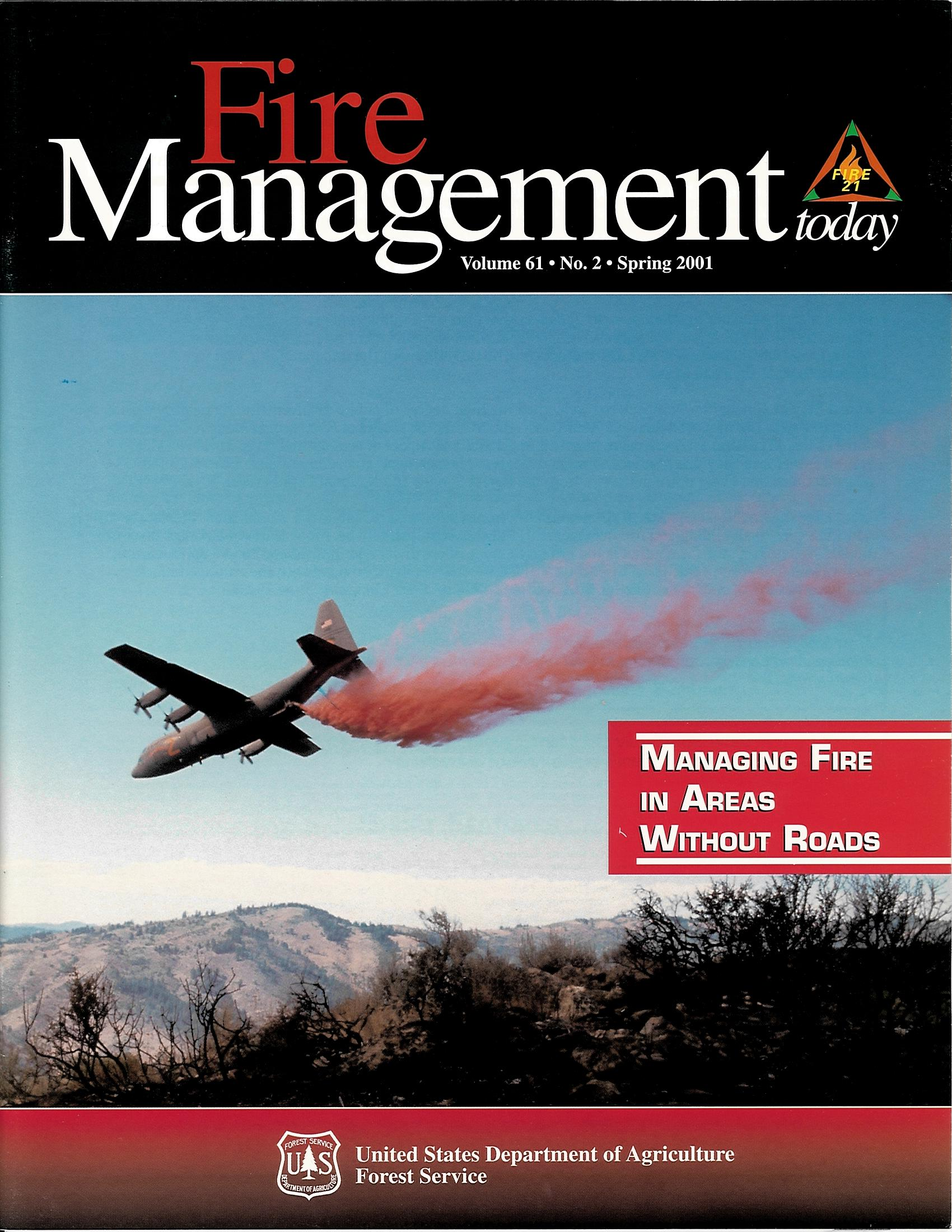 Cover of Fire Management Today Volume 61, Issue 02