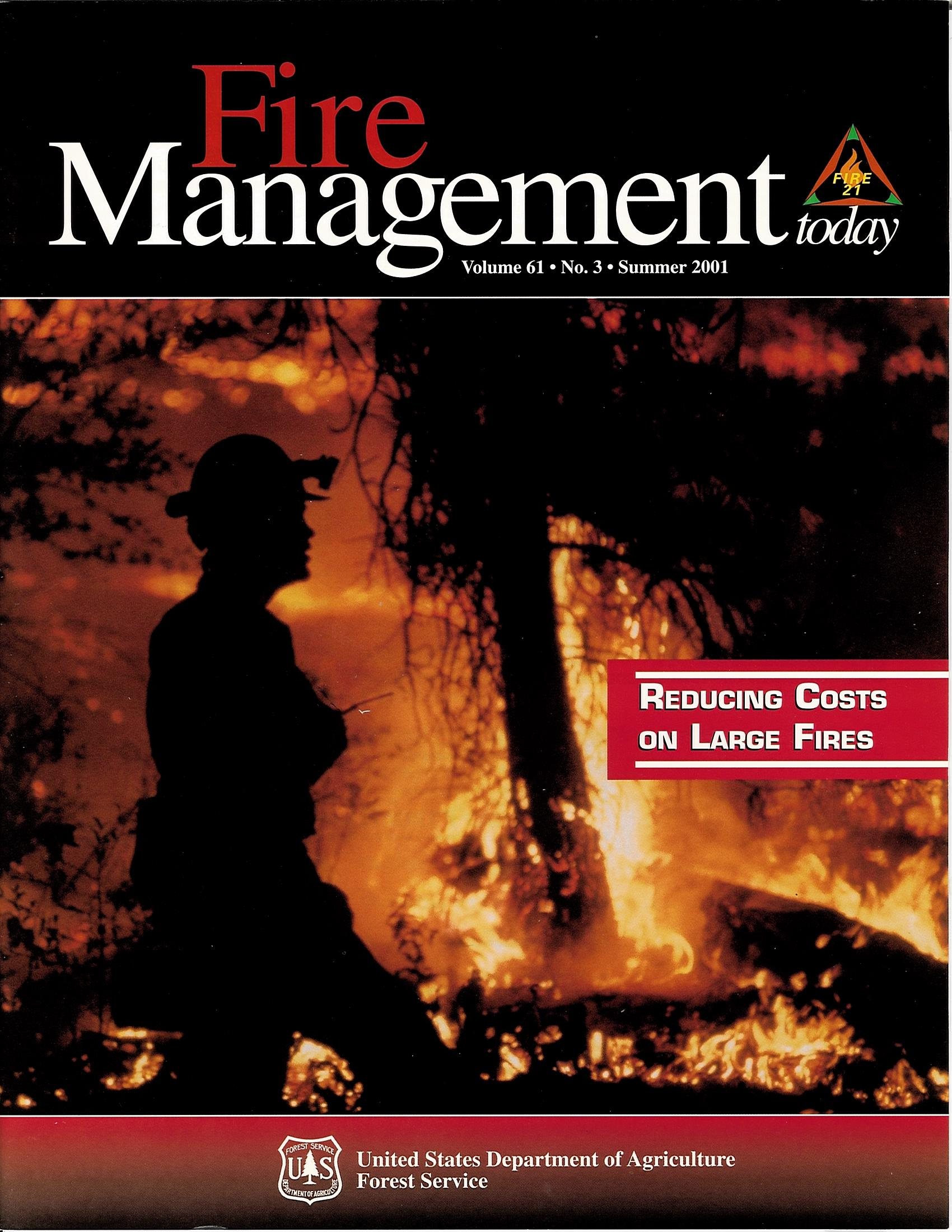 Cover of Fire Management Today Volume 61, Issue 03