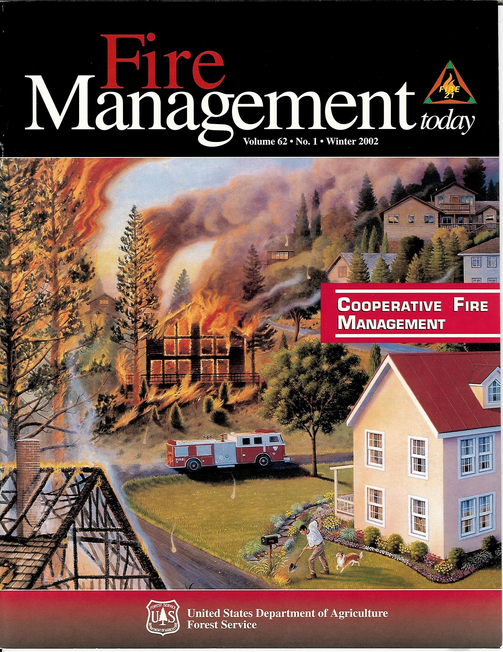 Cover of Fire Management Today Volume 62, Issue 01