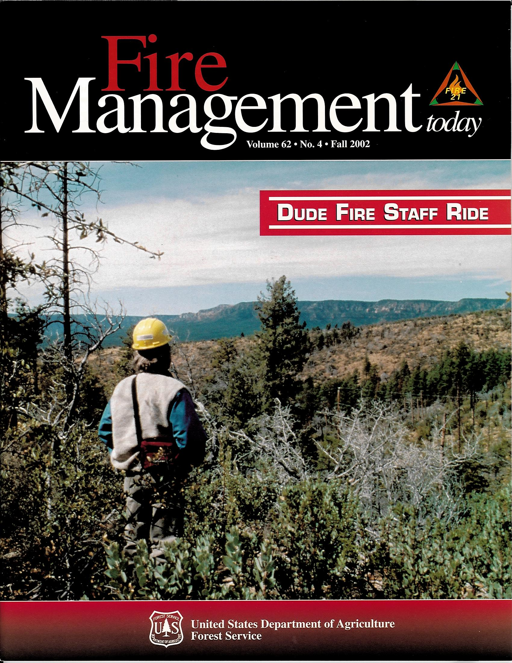 Cover of Fire Management Today Volume 62, Issue 04