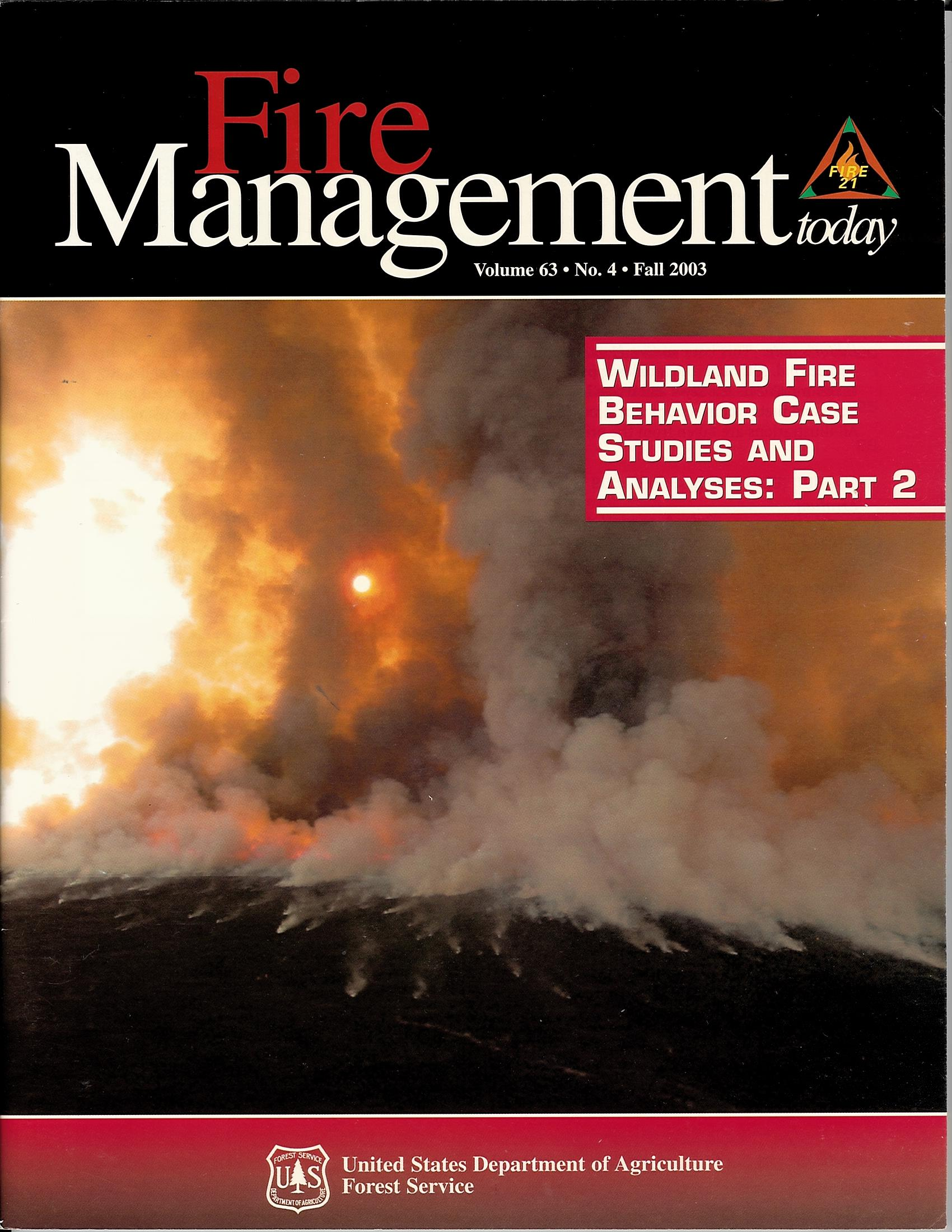 Cover of Fire Management Today Volume 63, Issue 04