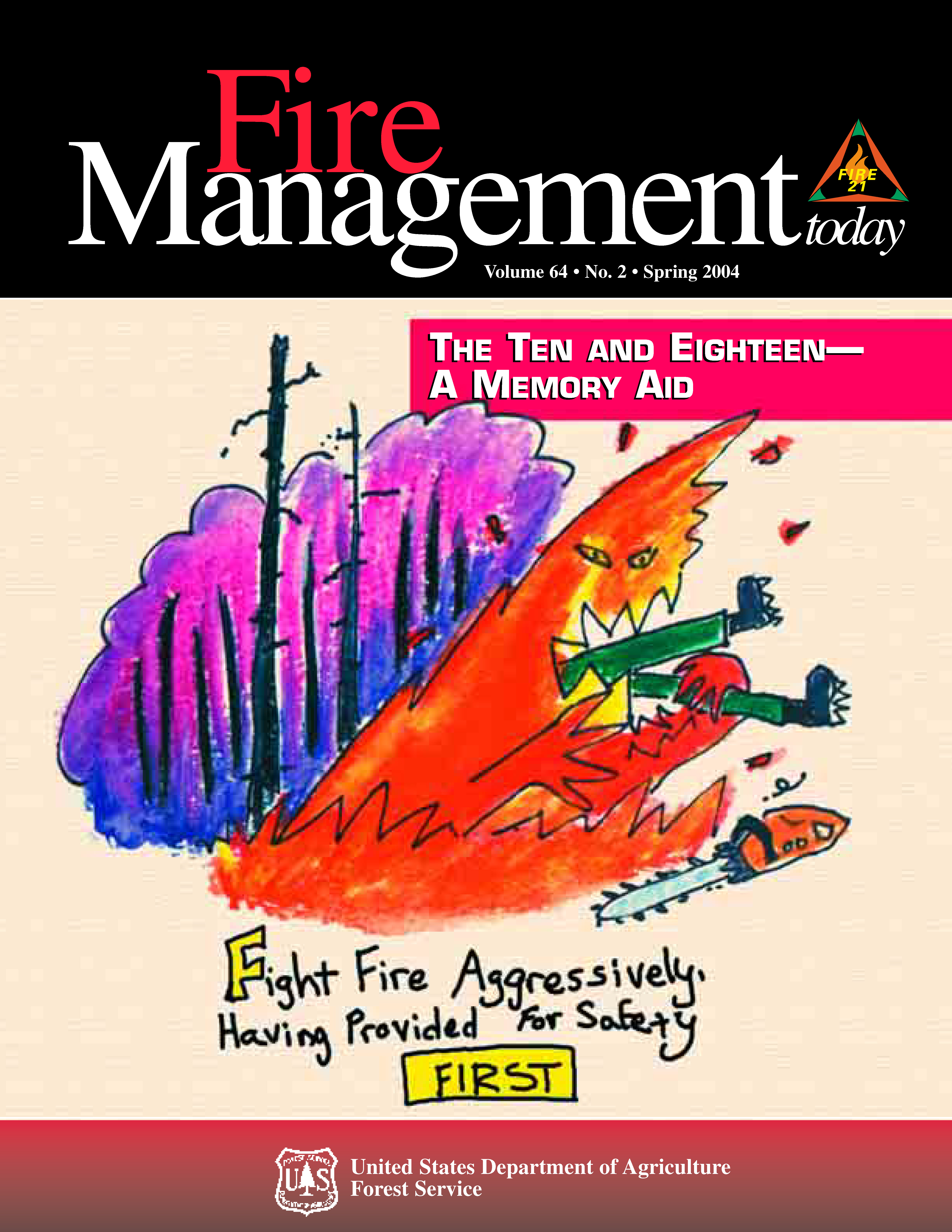 Cover of Fire Management Today Volume 64, Issue 02