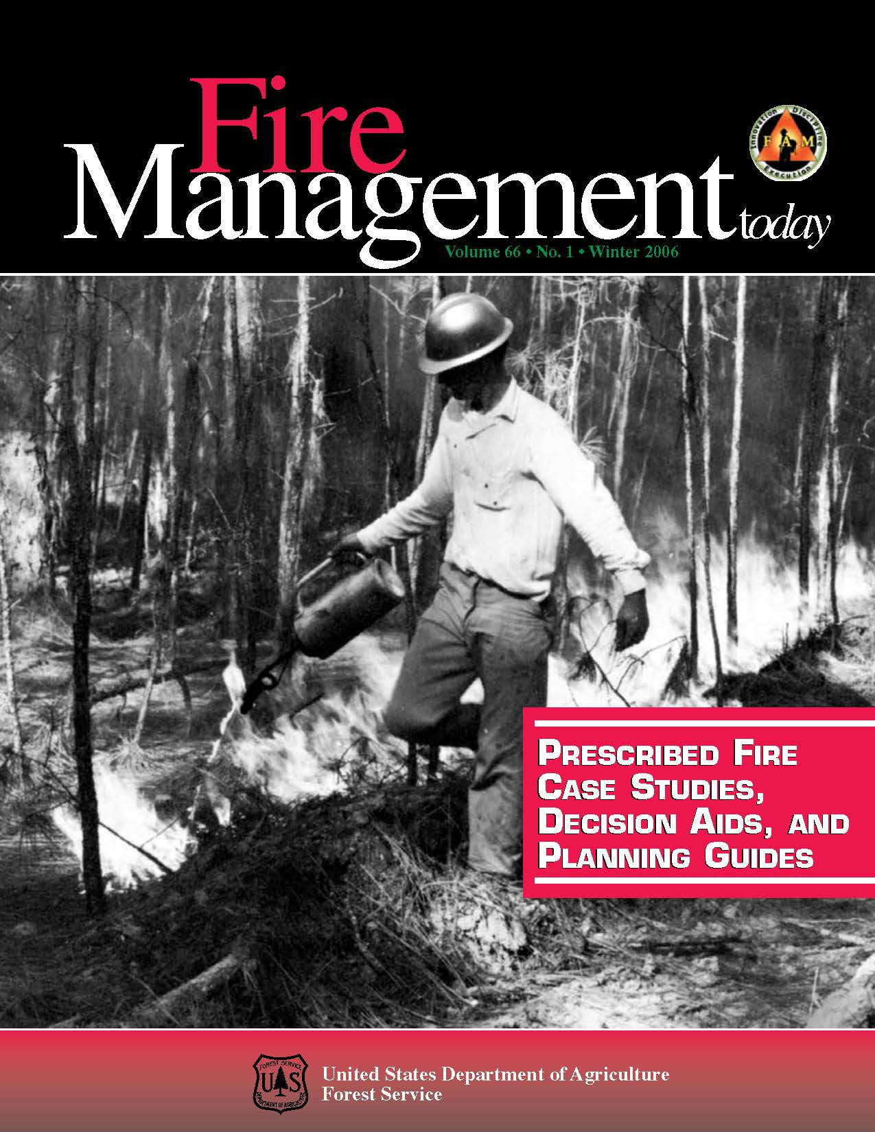 Cover of Fire Management Today Volume 66, Issue 01