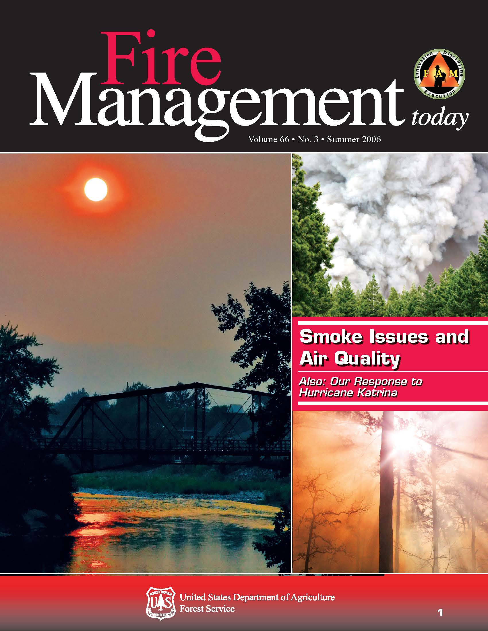 Cover of Fire Management Today Volume 66, Issue 03
