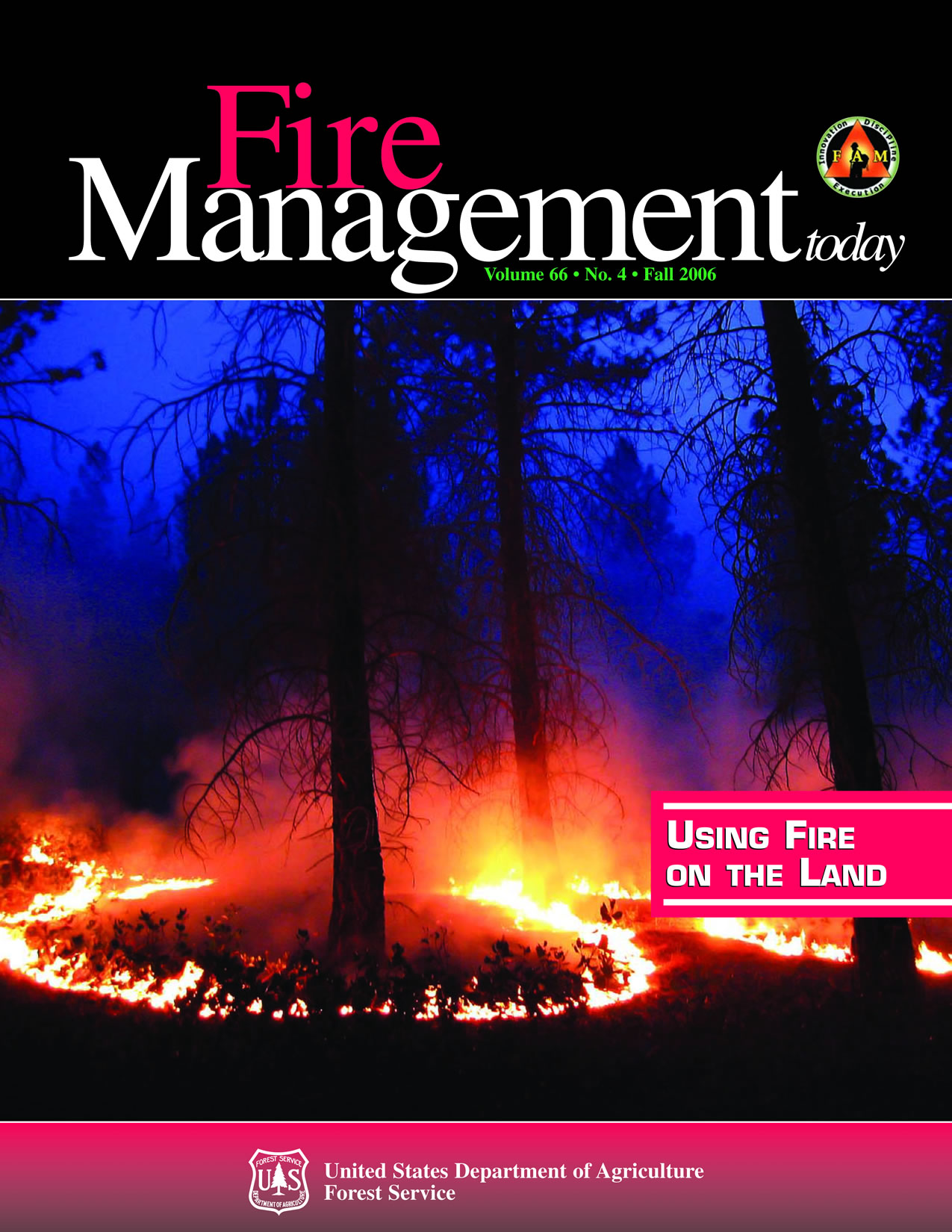 Cover of Fire Management Today Volume 66, Issue 04