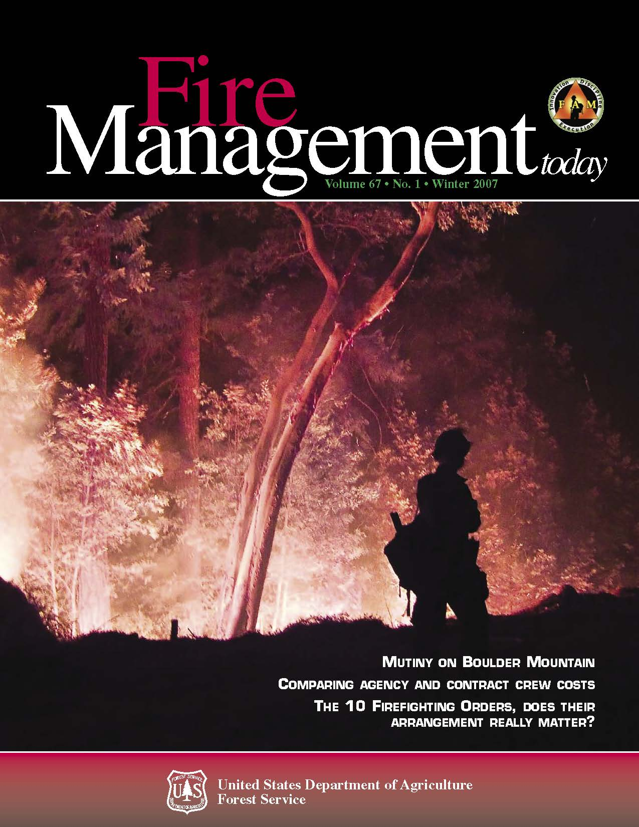 Cover of Fire Management Today Volume 67, Issue 01