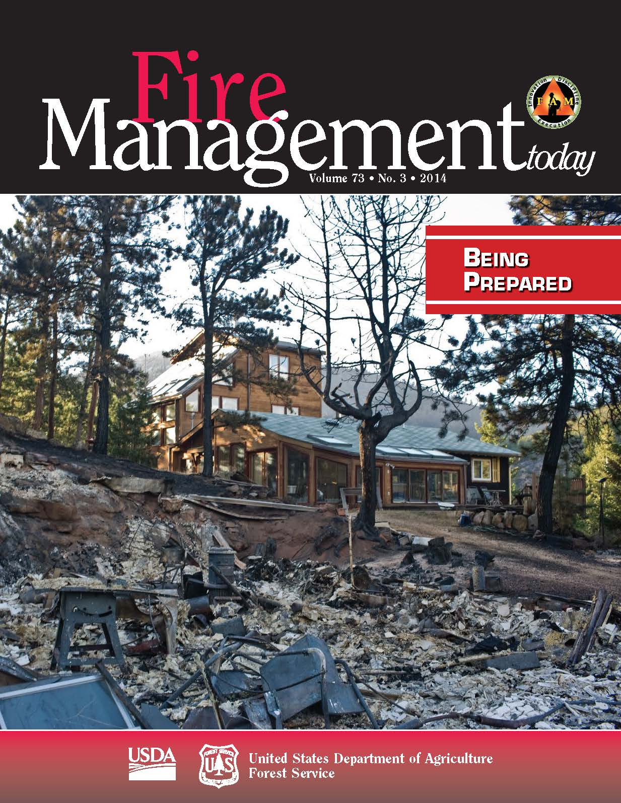 Cover of Fire Management Today Volume 73, Issue 03