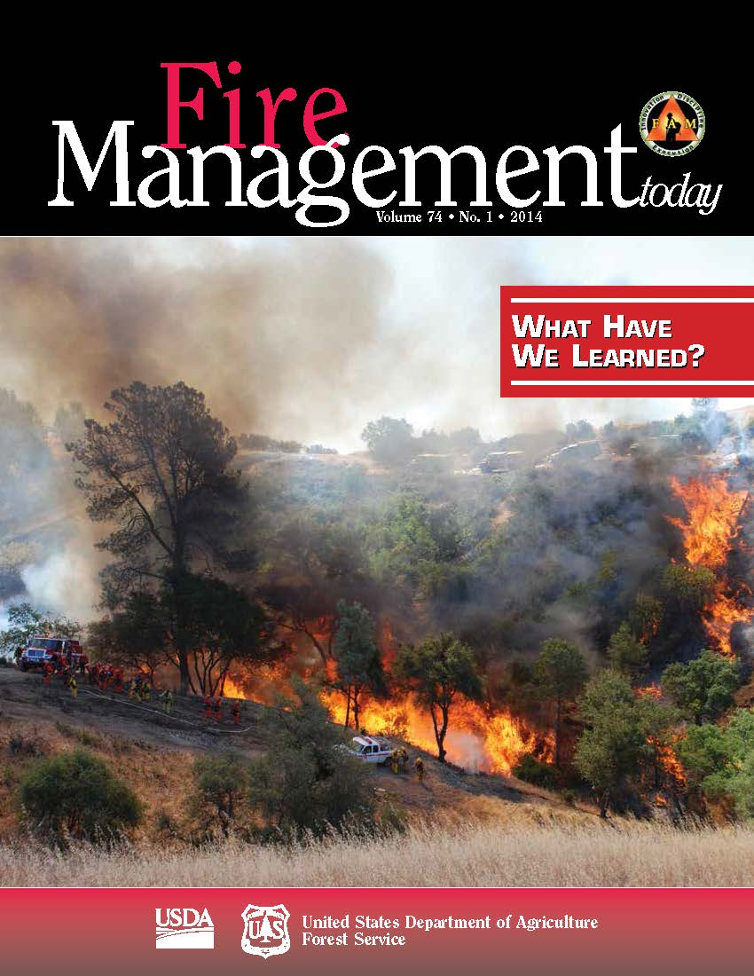 Cover of Fire Management Today Volume 74, Issue 01