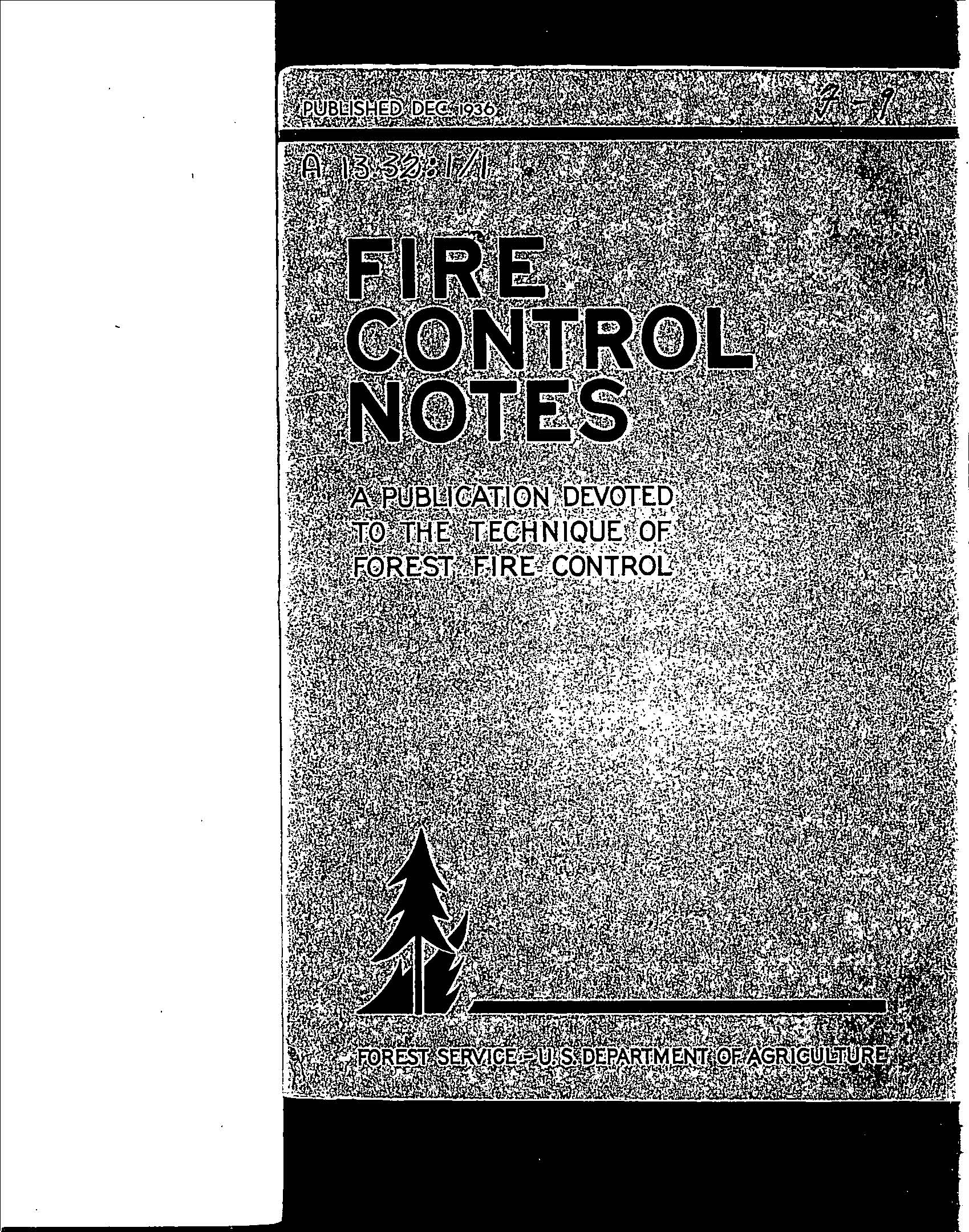 Cover of Fire Management Today Volume 01, Issue 01
