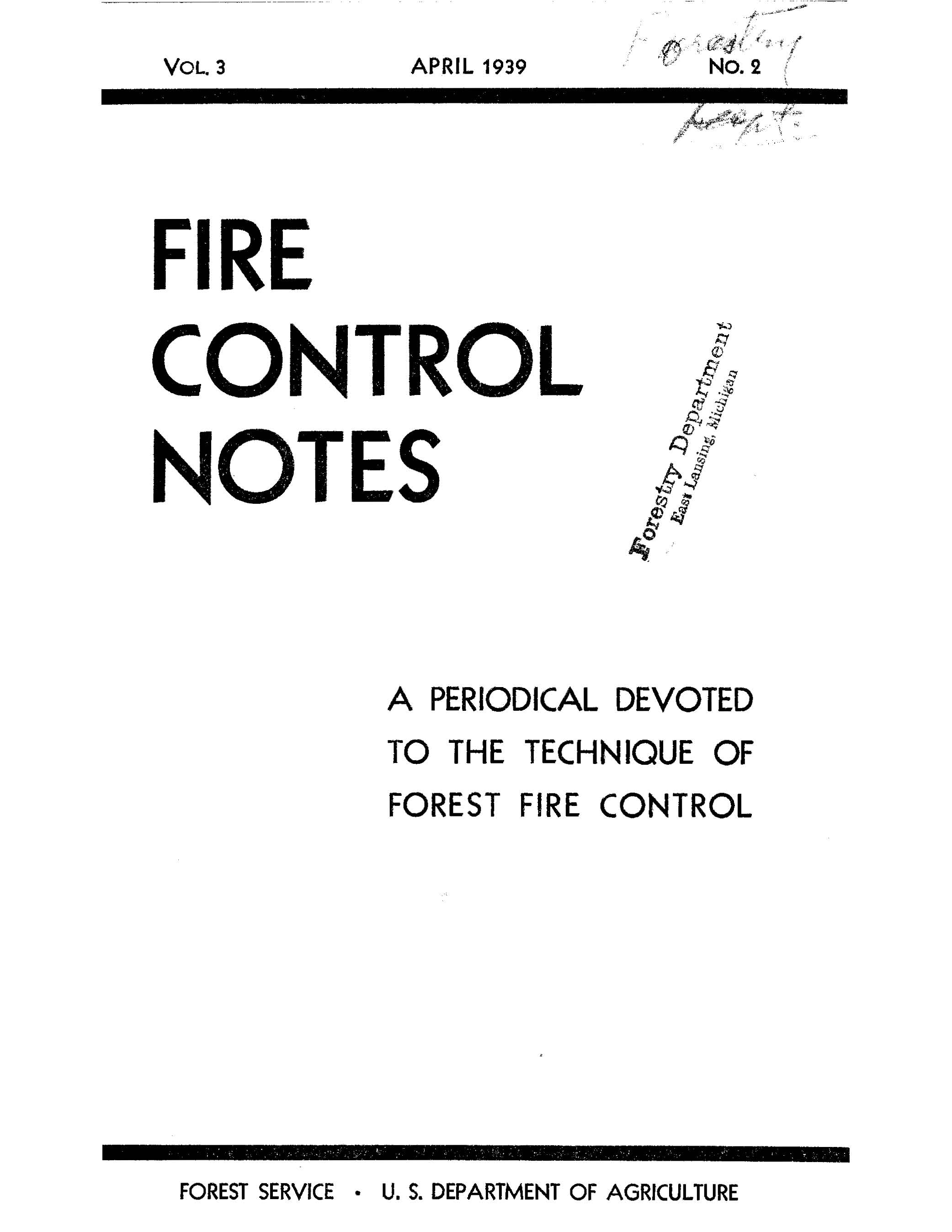 Cover of Fire Management Today Volume 03, Issue 02