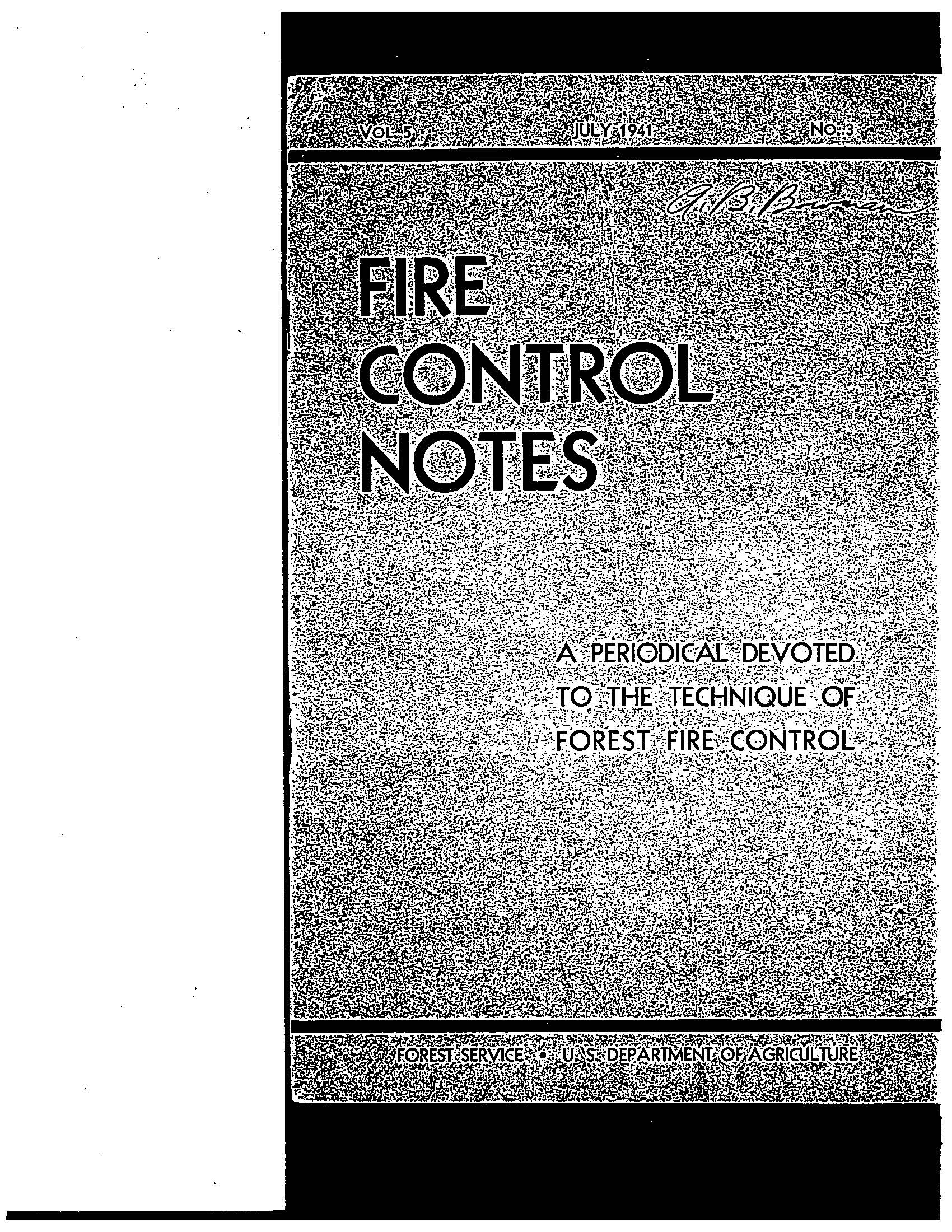Cover of Fire Management Today Volume 05, Issue 03