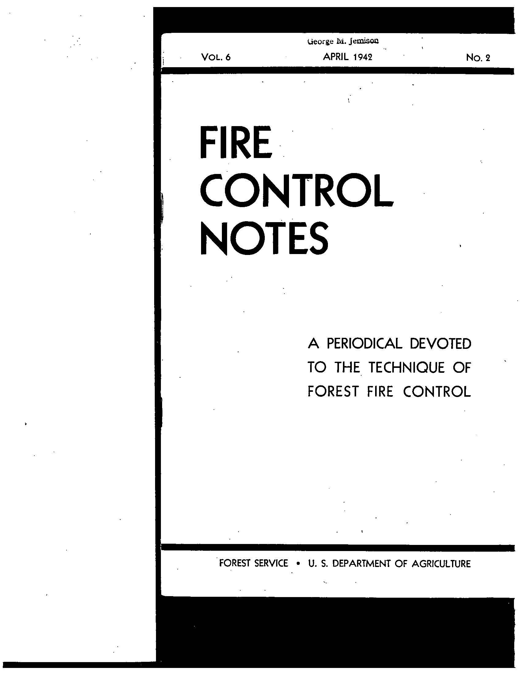Cover of Fire Management Today Volume 06, Issue 02
