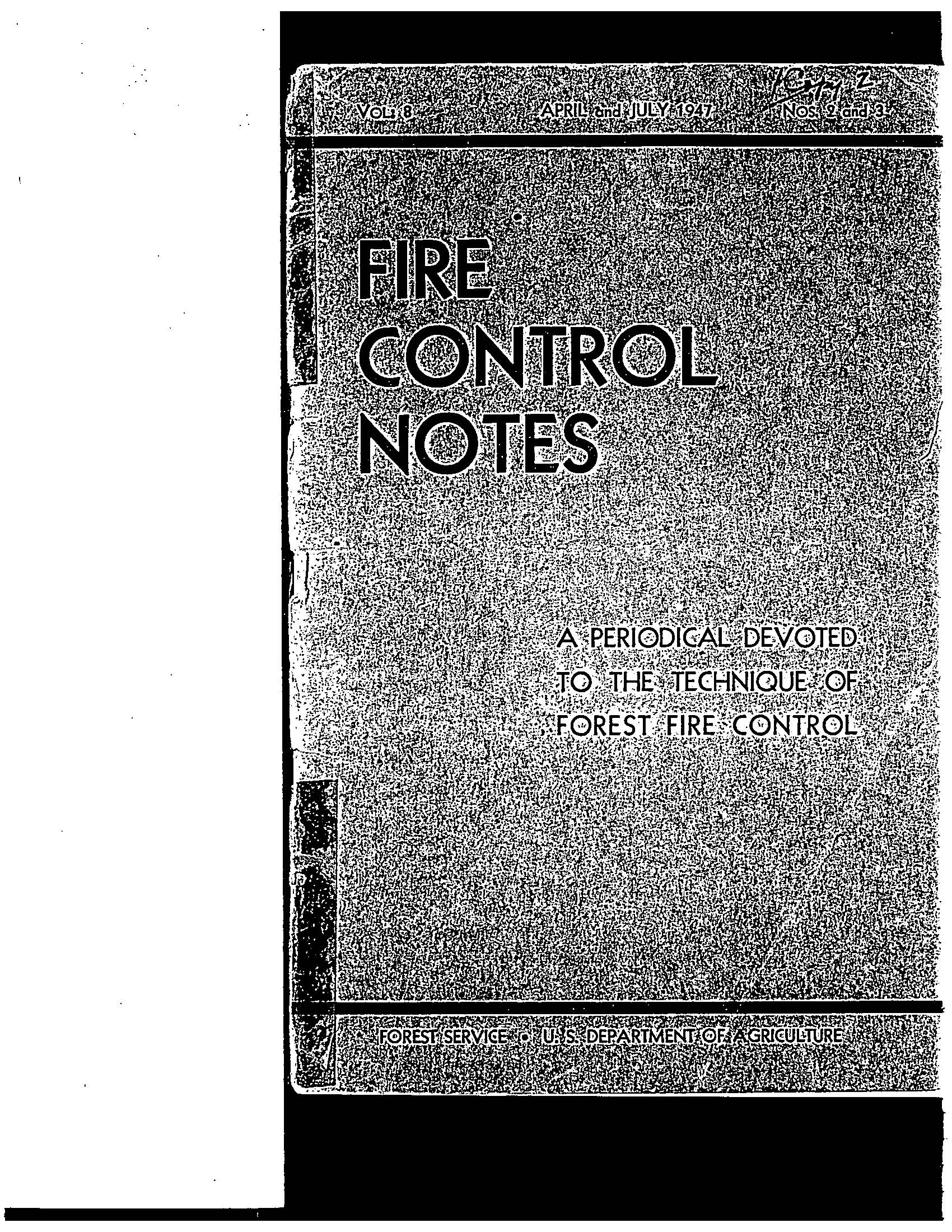 Cover of Fire Management Today Volume 08, Issue 03