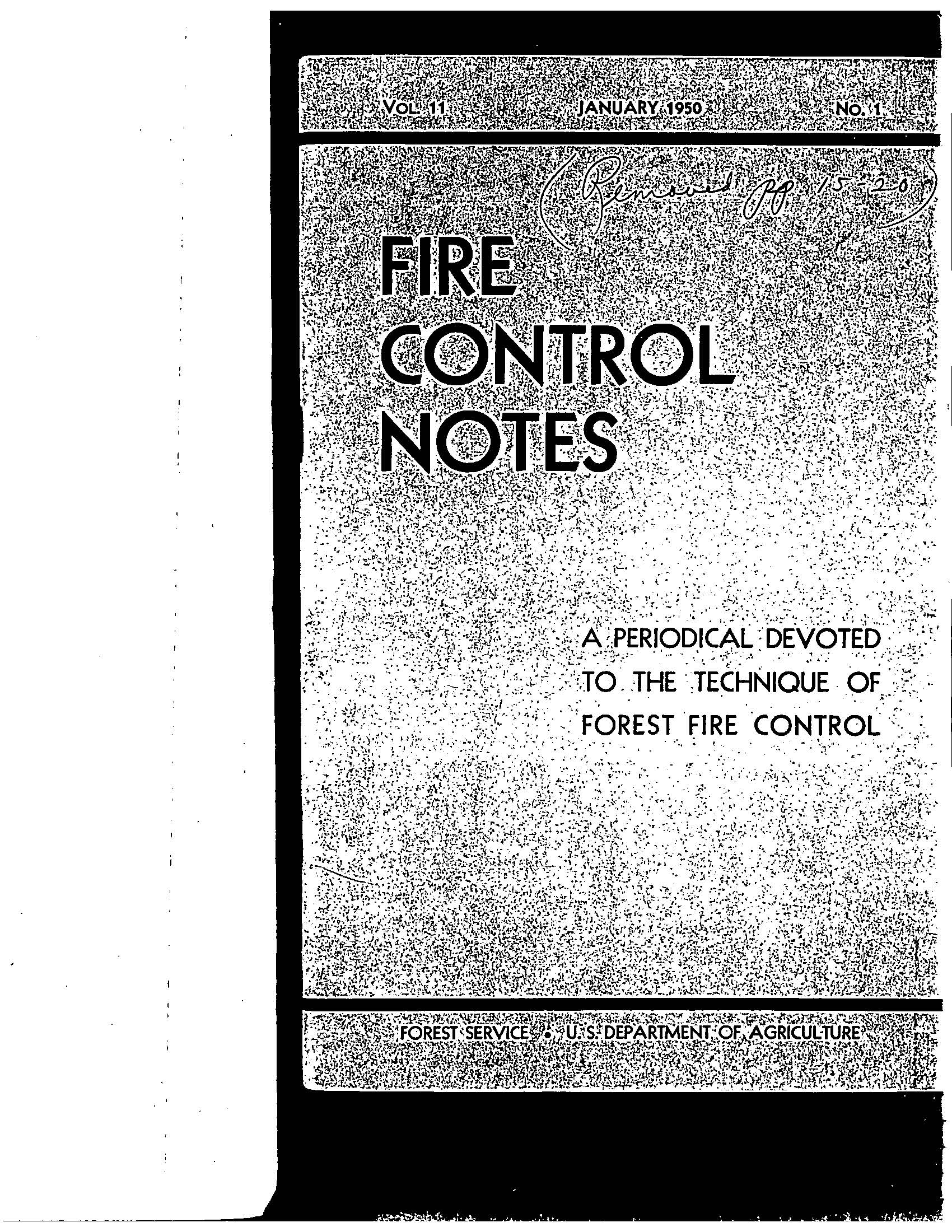 Cover of Fire Management Today Volume 11, Issue 01