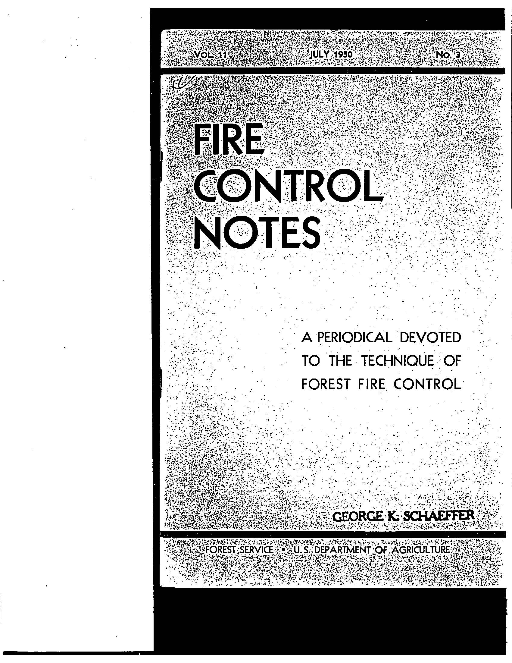 Cover of Fire Management Today Volume 11, Issue 03