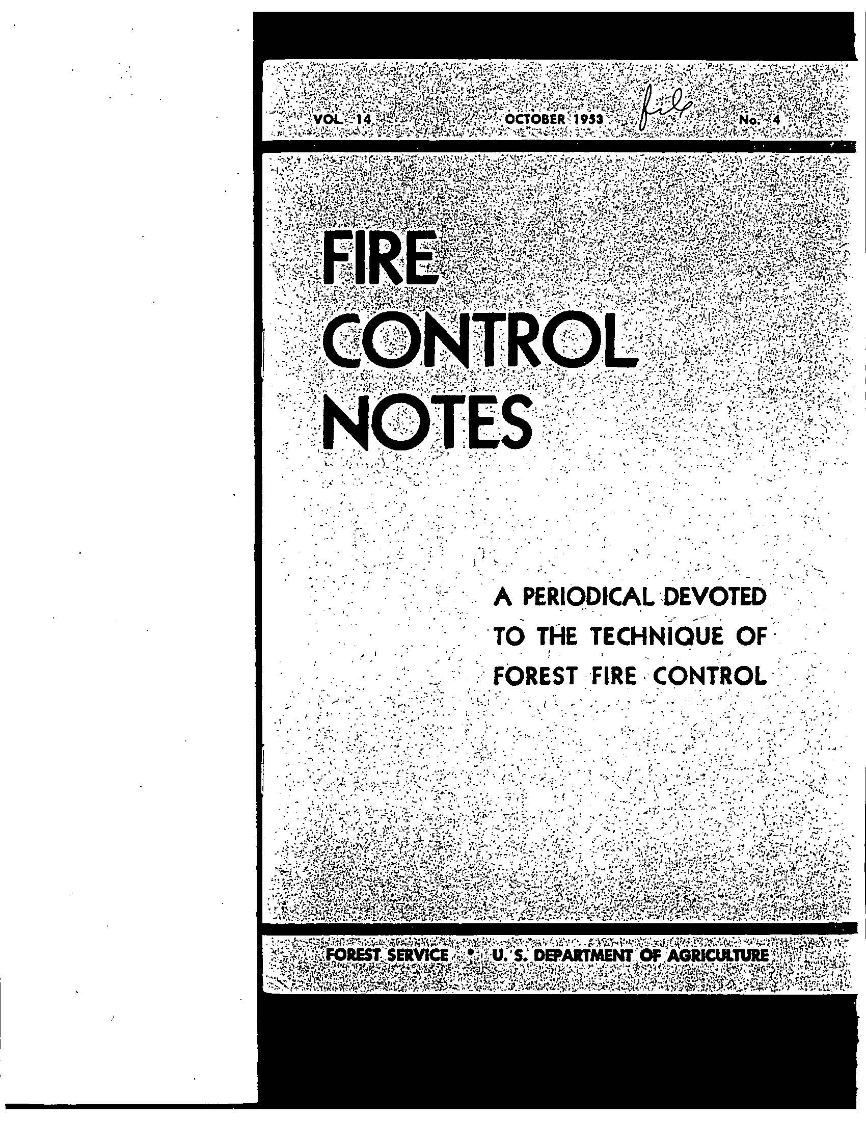 Cover of Fire Management Today Volume 14, Issue 04