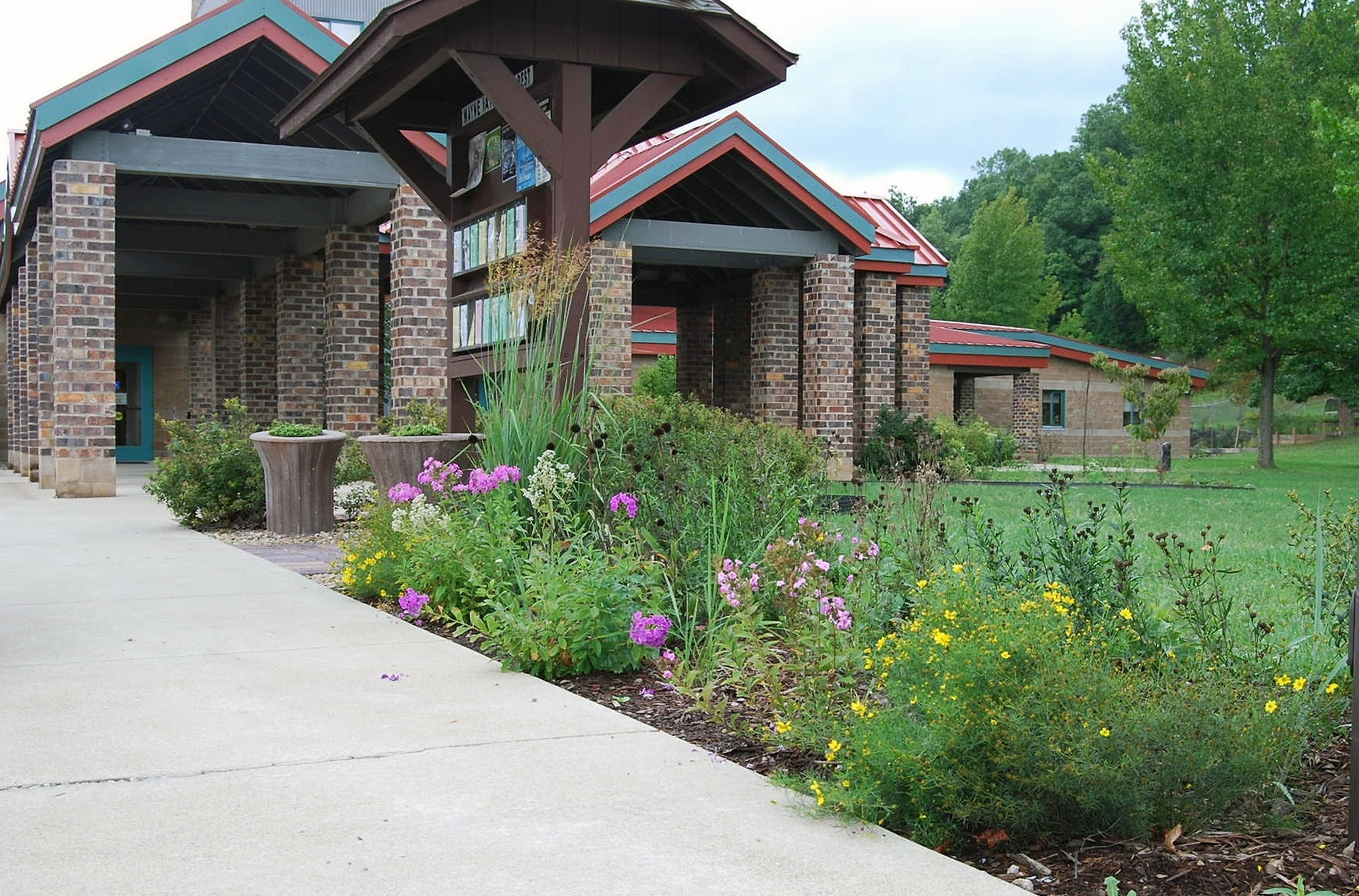 front entrance garden on the Wayne National Forest