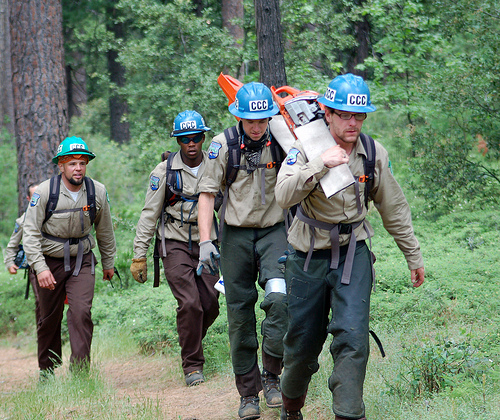 California Conservation Corps workers