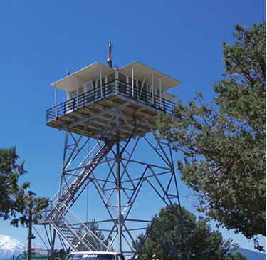 A picture of the Orr Mountain Lookout as it stands today.