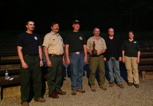 Northern Area State and Private Forestry Deputy Director Jim Barresi (second from left) presented the Bronze Smokey Award to the Wardens Helping in Prevention in Pennsylvania.