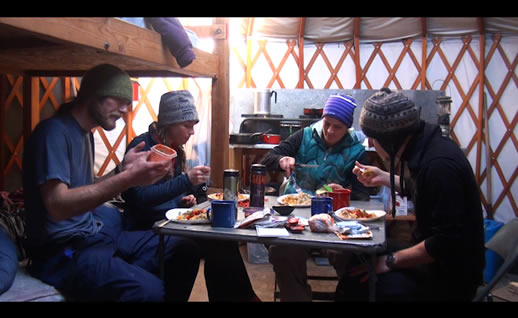 yurt-eating a meal
