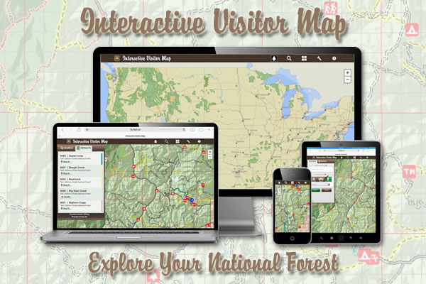 An illustrated photo of the interactive visitor map icon