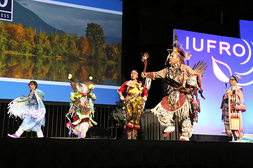 A photo of Nino Reyos and Twoshields Production Company performing native dances