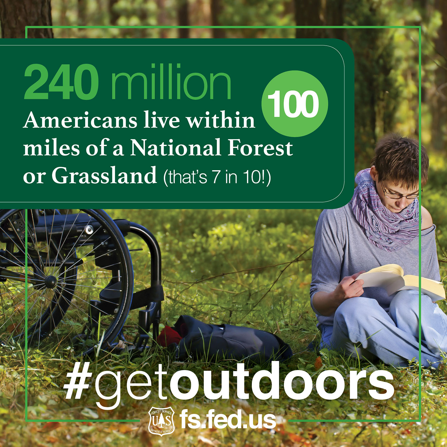 Forest Service Chief Tom Tidwell encourages you to get outdoors this weekend. (U.S. Forest Service Photo Illustration)