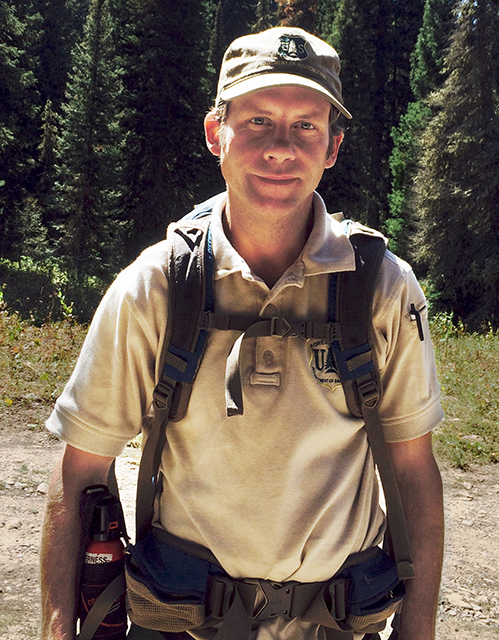 A photo of Chad Grossenburg, a wilderness program manager.