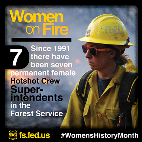 An illustrated graphic highlighting women in fire