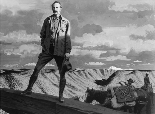 A portrait of Gifford Pinchot on a national forest