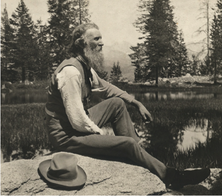 A photo of John Muir, a founding father of the American outdoors preservation movement.